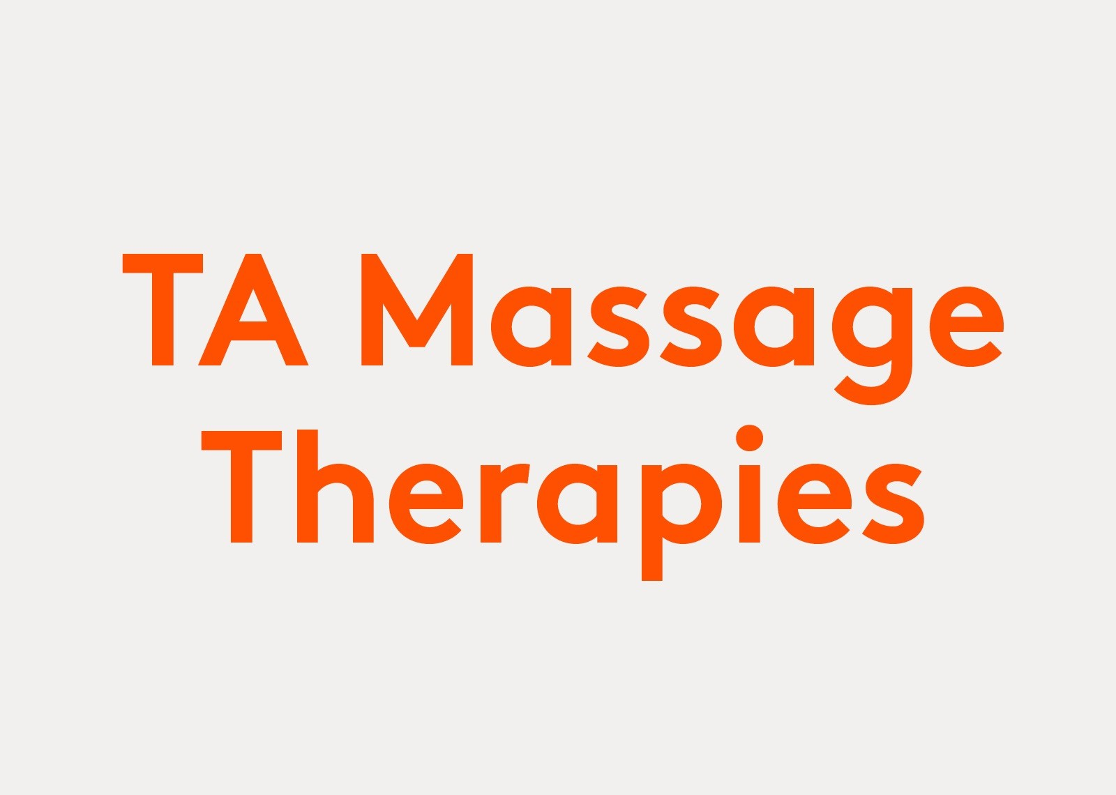 TA Massage Therapies